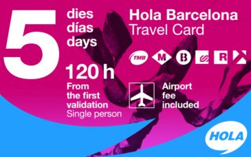 La Hola Barcelona Travel Card abonnement 5 jours